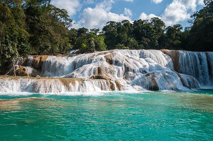 Cascadas en México, Agua Azul, Chiapas